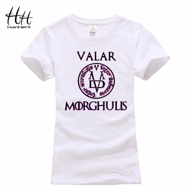Game Of Thrones Valar Morghulis Cotton Casual Women's T-shirt