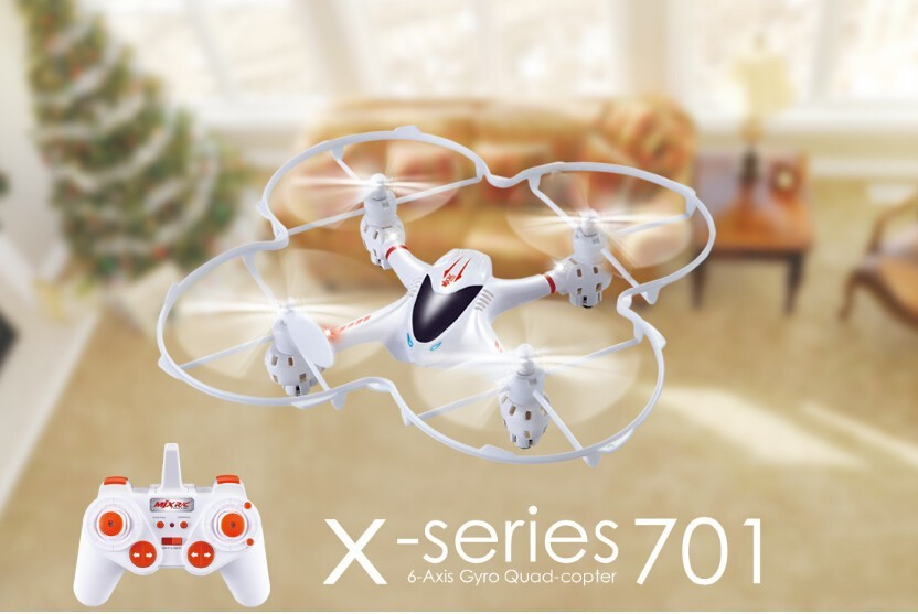 Free Shipping Mini Quadcopter MJX X701 2.4g 4ch Remote Control helicopter Toys With light rc drone best chrismas gift for kids