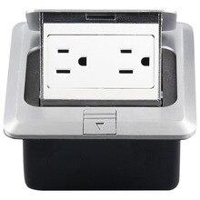Британский стандарт скрытые пуля Тип Компьютера пол розетки алюминиевый сплав сети английский Земле гнездо 125v-15a 120-04