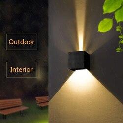 Nowoczesne oprawy LED Nordic korytarz ściana korytarza światła salon kinkiety oświetlenie nocne do sypialni wodoodporne zewnętrzne lampy ścienne