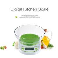 Numérique Balance Électronique Accueil Cuisine Équilibre Alimentaire Poids Avec Bol LED Rétro-Éclairage