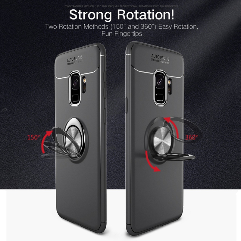 Magnetic Ring Cover For Samsung Galaxy S8 S9 Plus Note 8 Case Soft TPU Stand Holder Cover For Samsung J2 Prime J3 J5 J7 Pro Case in Fitted Cases from Cellphones Telecommunications