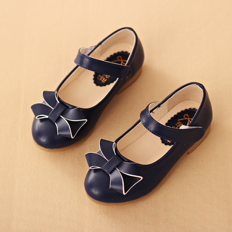 PU US Size 9.5 12 Pink Blue Navy Flat Girls Dress Shoes G301-in Leather  Shoes from Mother   Kids on Aliexpress.com