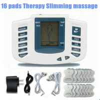 Electrical Stimulator Full Body Relax Muscle Therapy Massager Pulse Tens Acupuncture 16 Pads Health Care Beauty