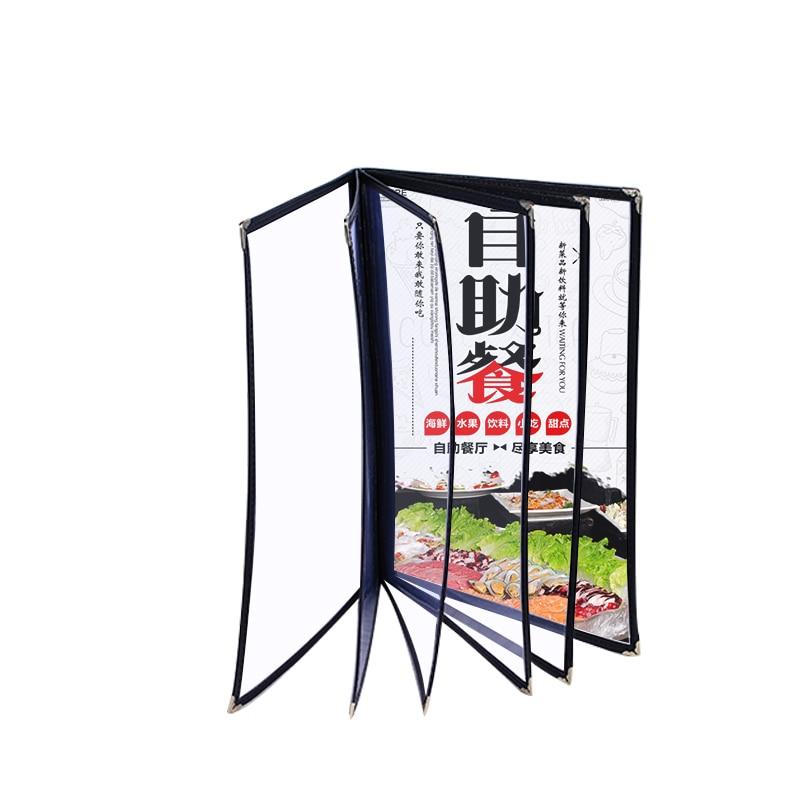 A5 2 4 6 Sheets Menu PVC Menu Cover Transparent Menu Holder Book  Small Menu Folder