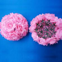 3pcs Wedding Flowers Full Balls Table Centerpiece Decor Artificial Silk Rose Pomander Floral Arrangement Florie