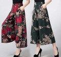 Новое лето плюс размер брюки моды широкую ногу брюки женские Лодыжки Длины брюки брюки
