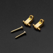 1Pair Guitar Parts Press String Buckle Electric Guitar Headstock Ball Bearing Press String Buckle Durable Gold/Silver