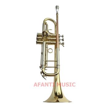 Afanti muzyczny Bb dźwięk żółty mosiądz złoty lakier trąbka (ATP-1401) tanie i dobre opinie Żółty mosiądzu