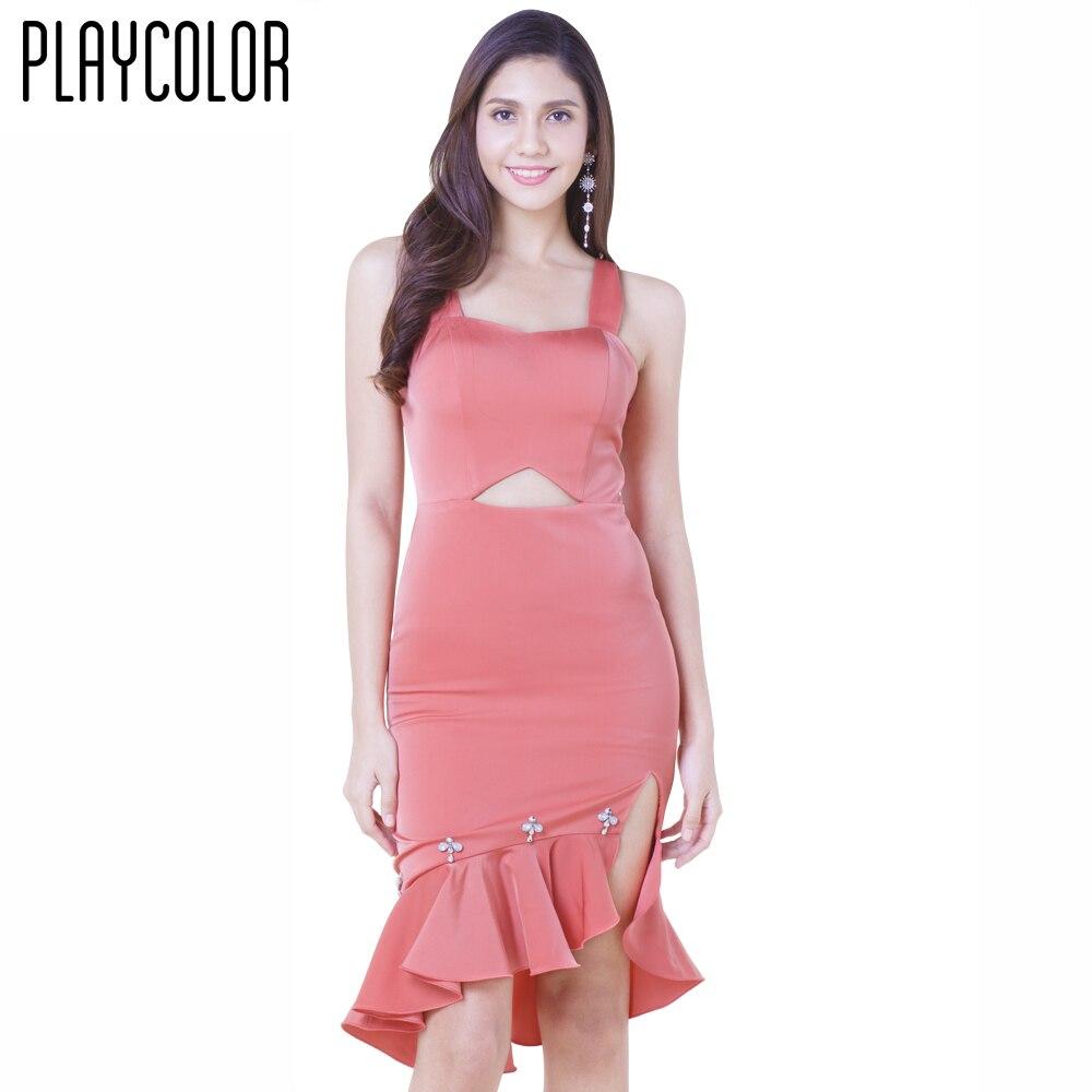 Encantador Vestidos De Cóctel De Color Rojo Galería - Colección de ...