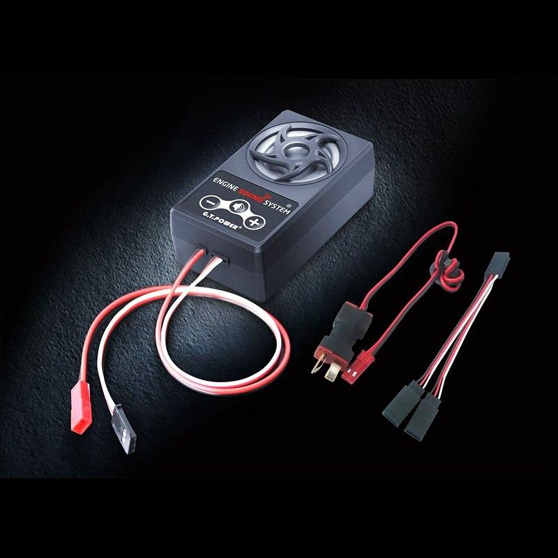 GT puissance RC voiture son système simulé 58 typs de simulation vocale différente sans fil contrôlable 10 W faible consommation d'énergie