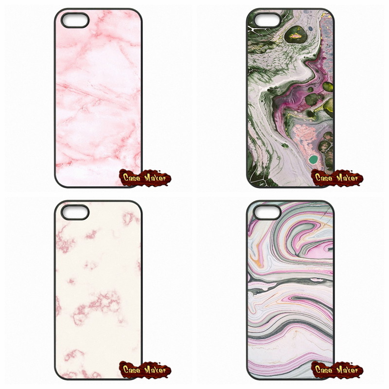 For iPhone SE 4 4S 5S 5 5C 6 6S Plus Samsung Galaxy S3 S4 S5 MINI S6 S7 Edge Note 4 5 Pale Pink Marble Texture Design Case Cover