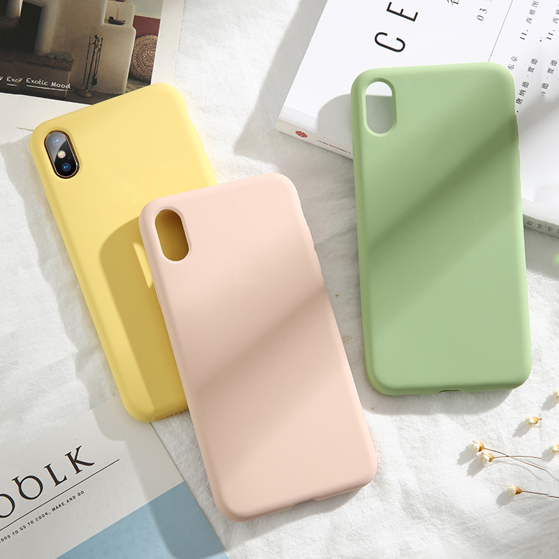 Image 3 - Lovebay High Quality Liquid Silicone Cases For iphone 7 6 6S 8 Plus XS Max XR X Fashion Shockproof Colorful Phone Case Cover-in Fitted Cases from Cellphones & Telecommunications
