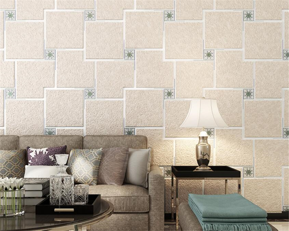 Beibehang High quality Modern 3d deerskin wallpaper living room bedroom TV wall sofa background wallpaper plaid 3d wallpaper free shipping swan lake blue 3d stereo background wall bedroom living room mural 3d high quality office wallpaper