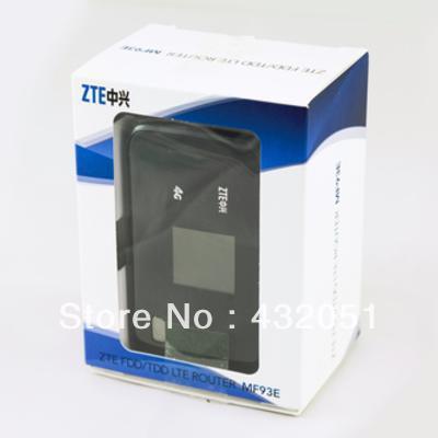 ZTE MF93E 4G LTE FDD 100Mbps & TDD 68Mbps Dual-Mode Pocket Broadband Router zte mf93e 1800 2300 2600mhz fdd tdd lte 4g sim router