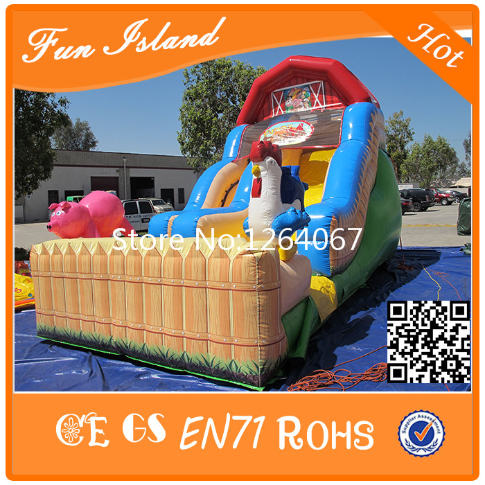 Free Shipping Newest Design Inflatable Cock Slide, Dry Inflatable Slide new inflatable slide wave slide slide ocean hx 886