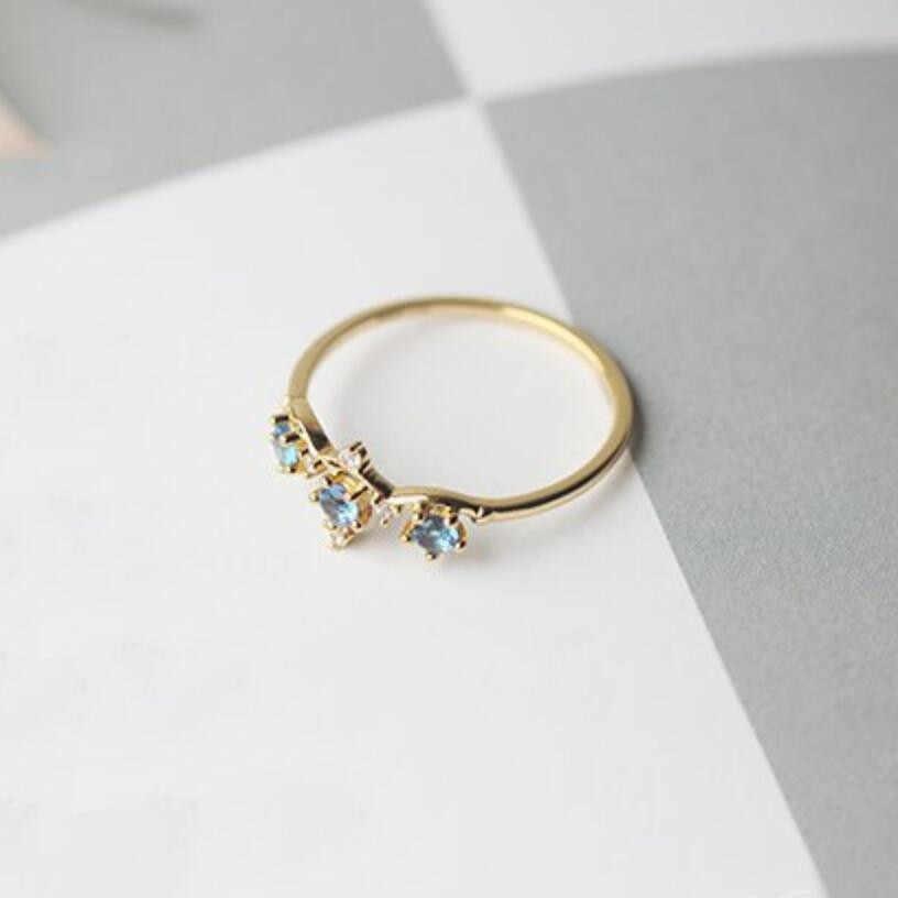 רטרו פשוט קטן כתר טבעת אישיות קלאסי נשים של טבעי אבן טבעת אלגנטי אצילי השתתפות את עוף זנב טבעת