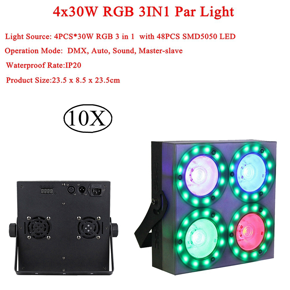 Led Disco Light 30W Blinder SMD5050 RGB Stage Light Sound Actived Disco Lamp For Stage Lighting Wedding Karaoke Color Changing show plaza light stage blinder auditoria light ww plus cw 2in1 cob lamp 200w spliced type for stage