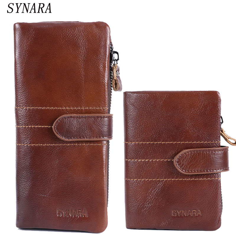 The 2018 New First Layer Of Real Leather Mens Oil Retro High-Capacity Multi-Card Bit Long Wallet Clutch Men Genuine wallet
