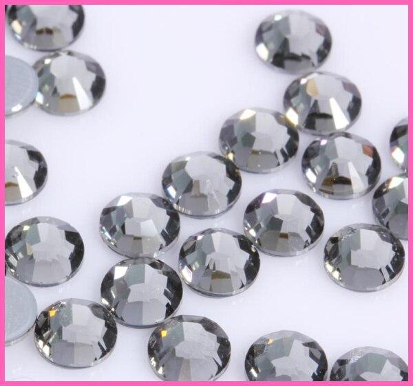 Все размеры 40 цветов кристалл AB исправление стразы, Стекло Стразы исправленное железо на Стразы для дизайна ногтей шитье и ткань Decoretion - Цвет: Black Diamond
