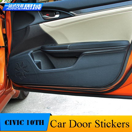 car modification 4pcs leather interior easy to clean car automobile