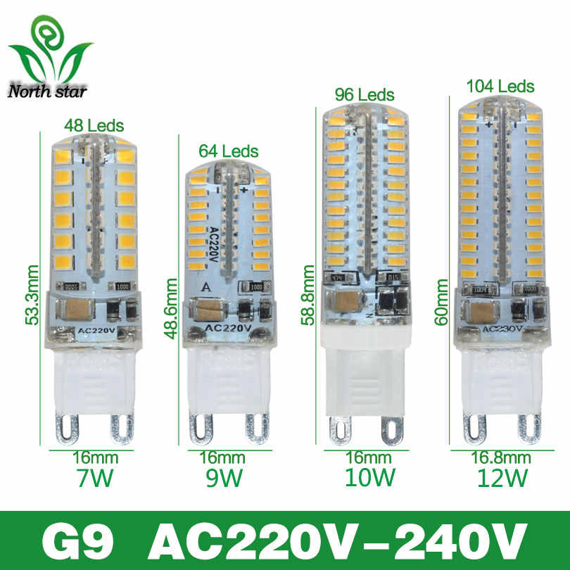2016 New Mini Bombillas LED G4 G9 Light Bulb SMD3014 2835 3W 7W 9W 12W Lamparas LED Lamp 220V 12V Ampoule Luz Chandelier Lights