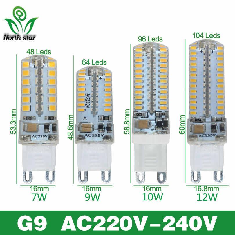 2016 مصباح جديد صغير بومبيلاس LED G4 G9 لمبة إضاءة SMD3014 2835 3 واط 7 واط 9 واط 12 واط lamvillage LED مصباح 220 فولت 12 فولت أمبولة لوز أضواء الثريا