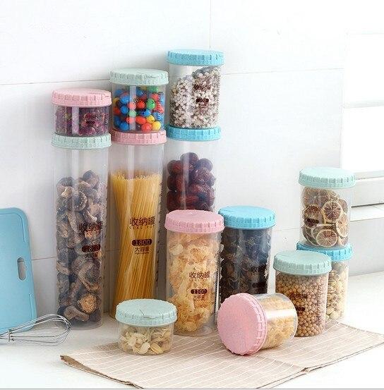 Container Storage-Box Food-Preservation Plastic Kitchen OK 1PC 0443 Jar Sealing Fresh-Pot