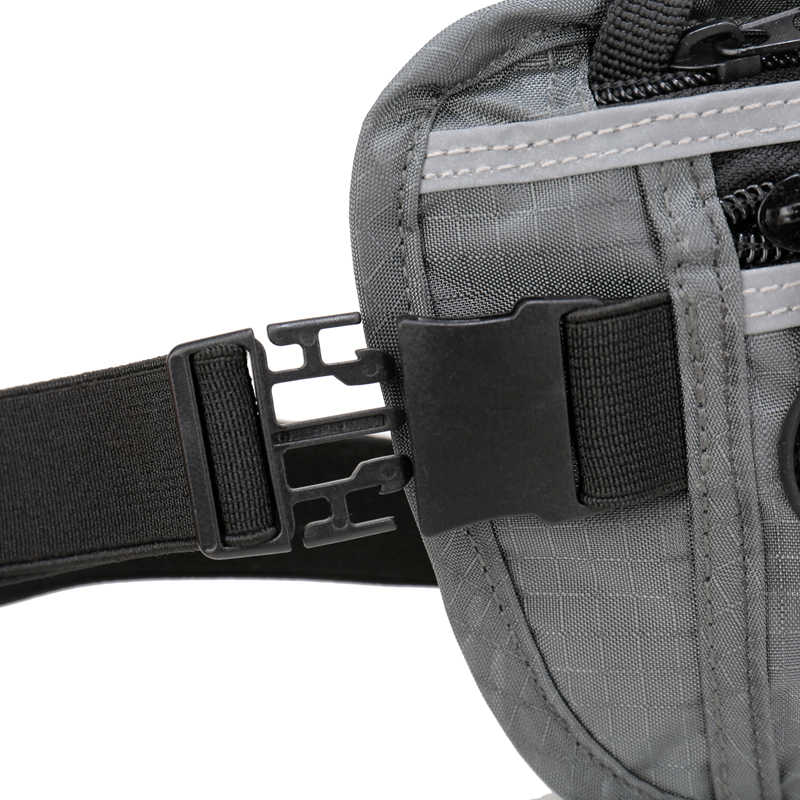 ENKNIGHT Big RFID argent ceinture pour voyage taille Pack sac femmes hommes réglable Fanny carte Anti-vol Pack Plaid Zip poches supplier