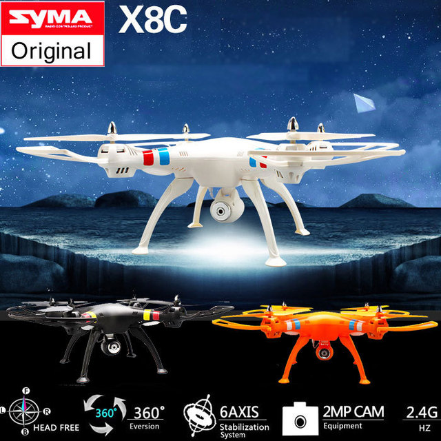 Syma X8C 2.4G 4CH 6 Axis Venture with 2MP Wide Angle Camera RC Quadcopter Drone Headless RC Helicopter