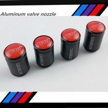 1 sets Free ship Red STI Car Wheel Tyre Tire Valve Stem Air Caps Covers Metal Fit For BRZ WRX STI