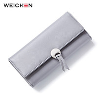 WEICHEN Geometric Wristband Women Clutch Wallets Long Hasp Large Capacity Coin Card Phone Pocket Bags Wallet