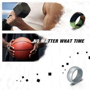 Image 4 - 10pcs מזון כיתה ה FDA סיליקון טבעות 8.7mm היפואלרגנית גמיש ספורט אנטיבקטריאלי אצבע טבעות גומי חתונה טבעת לגברים
