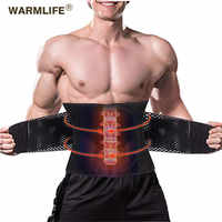 New Elastic Waist Support Belt Four Steels Plate Protection Tourmaline Self heating Magnetic Therapy Lumbar Massage Support Belt
