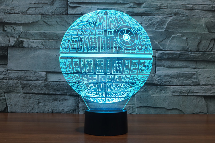 7 Colors Death Star Jedi Darth Star Wars Millennium Falcon Action Figures 3D Table Lamp BB 8 Master Yoda Vader Mask Led Toys star wars clone wars jedi master plo koon 3 75 inch loose figure