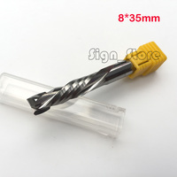 HQ AAA 8x35MM Up Down Cut 2 Flute Double Spiral Carbide CNC Mill Tools CNC Milling