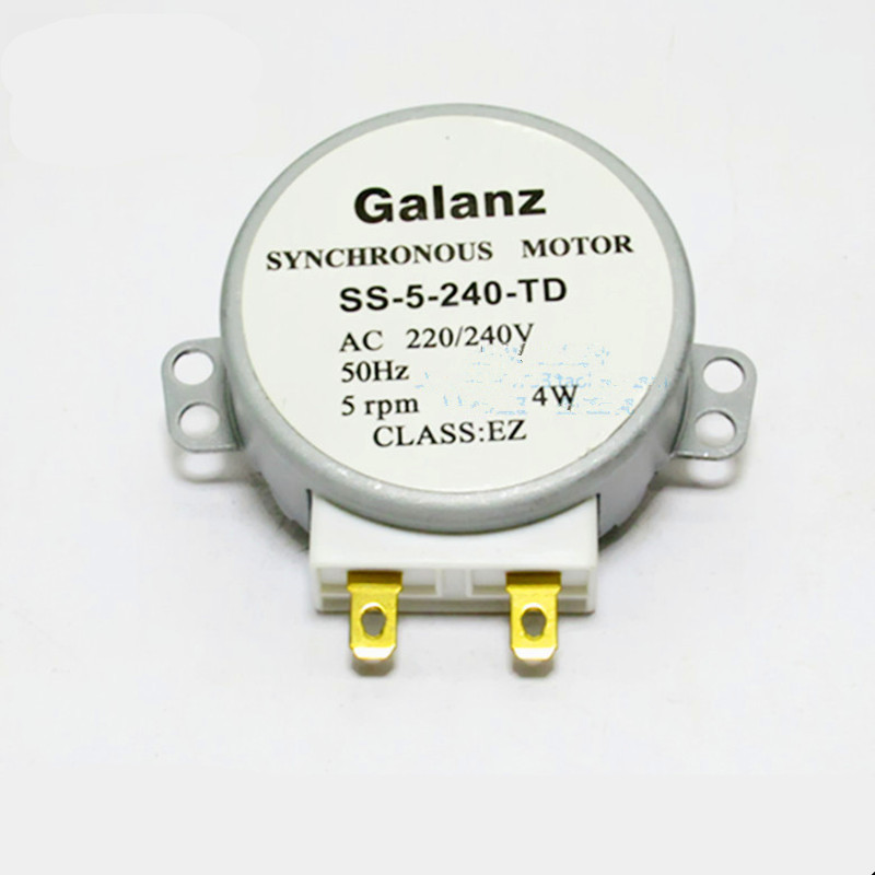 1pcs for Galanz Microwave Oven Parts Synchronous Turntable Motor SS-5-240-TD GAL-5-240-TD AC220V Semicircular D-shape Shaft