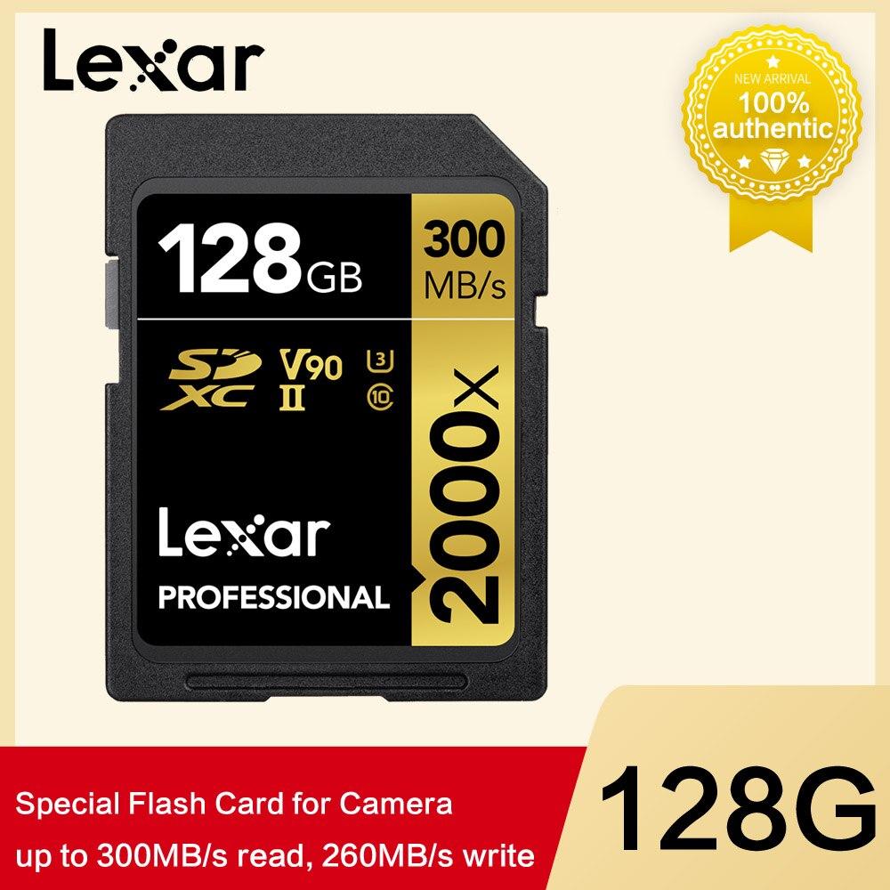 Lexar 128 gb 64 gb 32 gb lecteur de stylo limité 300 mo/s Sdhc 2000x pour carte Sd Sdxc uhs-ii U3 mémoire Flash pour appareil photo reflex numérique 3d 4 k