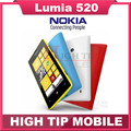 Nokia lumia 520 original unloced dual core 3g wifi gps 5mp 8 gb de almacenamiento de windows mobile reformado envío libre