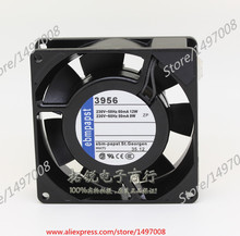 Free Shipping For ebmpapst 3956 AC 230V 12W 2-pin 90mm, 90x90x25mm Server Square fan