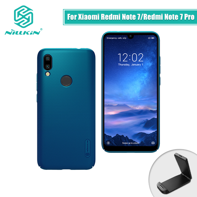 NILLKIN Redmi Note 7 7 Pro Peacock Blue Frosted Shield PC Matte Hard Back Case Cover