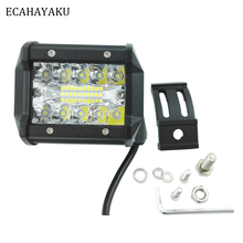 ECAHAYAKU 2PCS 4inch LED Work Light Bar for Driving LAMP Offroad Boat Car Tractor Truck 4x4 SUV ATV 12V 24V Rated 60W Actual 15W