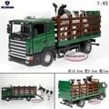 Súper 1 unid 1:43 18.5 cm delicada vaca vehículo de transporte de animales de simulación de camiones recoger de aleación modelo de coche decoración regalo del juguete