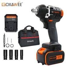 GOXAWEE 21V Cordless Impatto Elettrico Chiave Driver Socket Wrench 4000mAh Batteria Al Litio Trapano A Mano di Installazione Utensili Elettrici