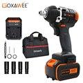 Llave eléctrica sin cable GOXAWEE 21V llave de enchufe de controlador de impacto 4000mAh batería de litio herramientas eléctricas de instalación de taladro manual