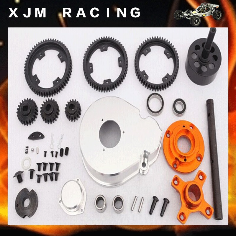 1/5 rc car 2 speed gear kits, 3 gear ratio(17T/57T, 20T/54T, 22T/52T) for baja 5b/5t/5sc parts bontrager 26 2 2 52 54 купить шину