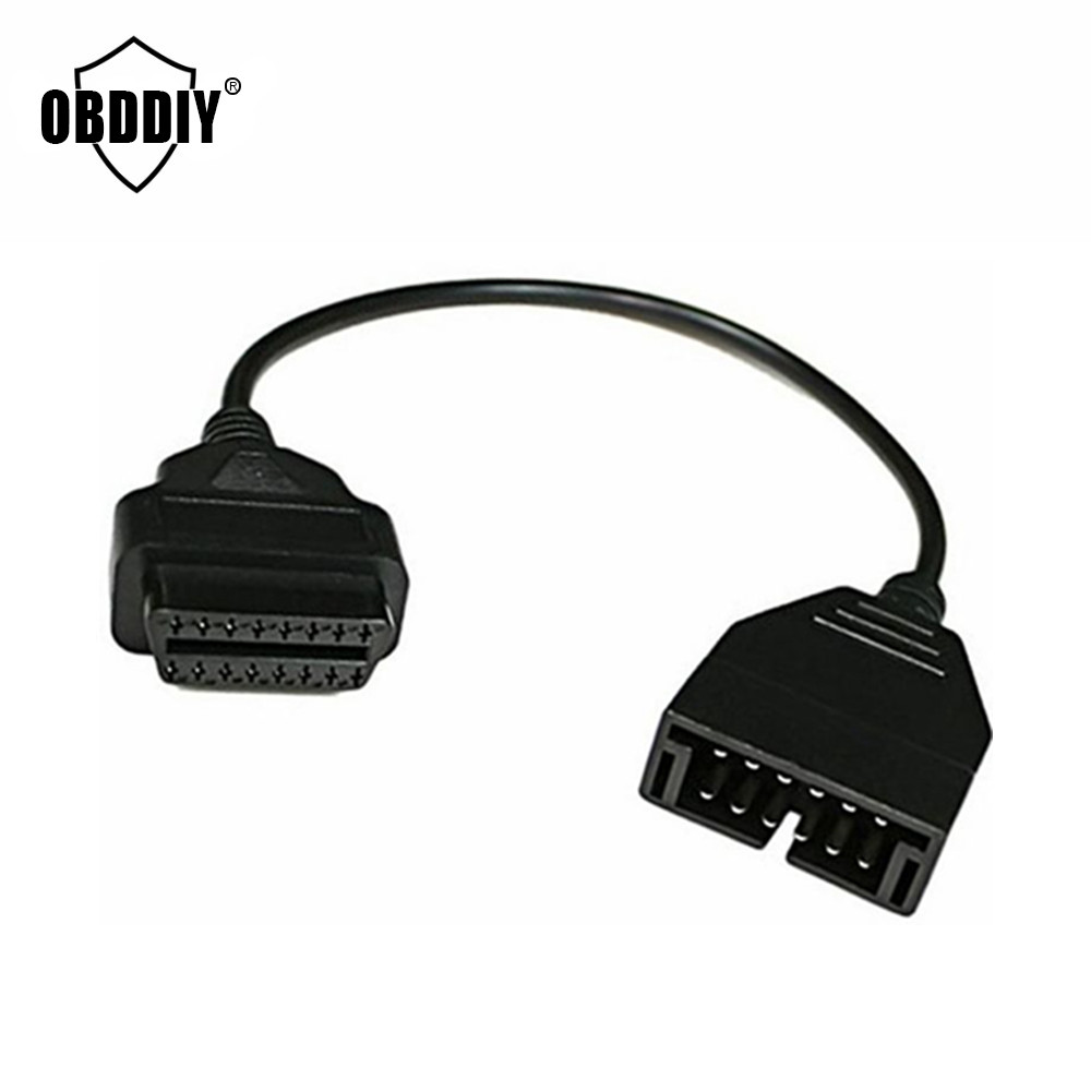 Gm 12 pin obd obd2 connector for gm 12pin adapter to 16pin for gm cars - Free Shipping Best Quality Obd2 Cable For Gm Daewoo 12 Pin To 16 Pin Obd2 Connector
