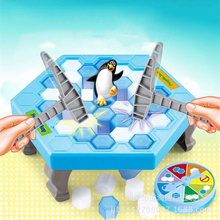 Break the ice to Save The Penguin Family Board Game toys that make the Game Fun, lose this game Penguin Fall shark bite game funny toys desktop fishing toys kids family interactive toys board game
