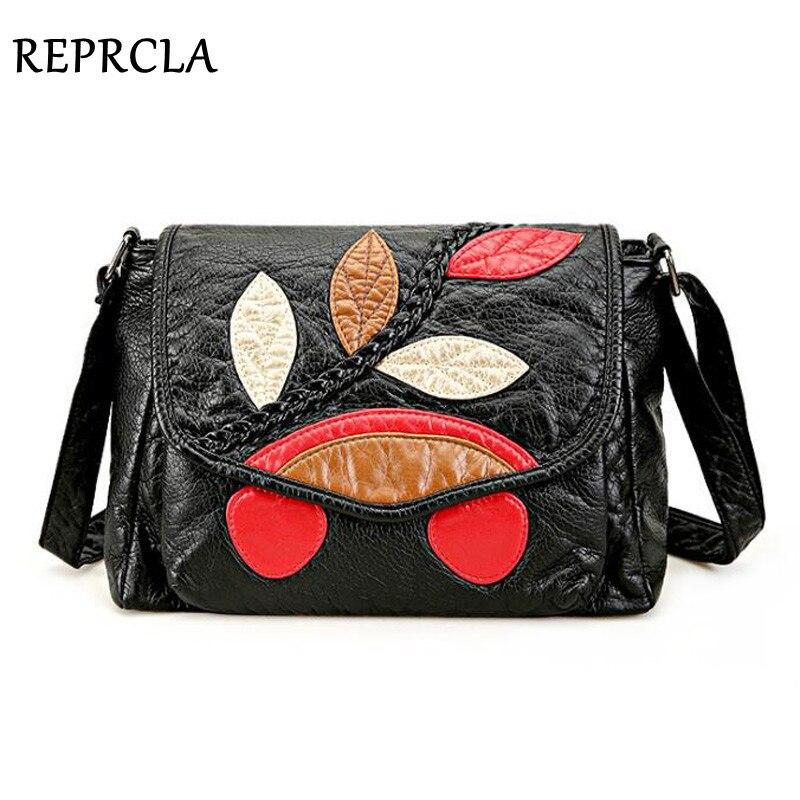REPRCLA Designer Soft Leather Shoulder Bag High Quality PU Ladies Handbag Casual Crossbody Bags For Women Bolsa Feminina