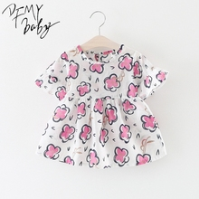 New Baby Girls Dresses Summer Fashion Tutu Princess Dress Casual Cute Printed Costume Kids Clothes Party Baby Dress